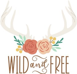 Wild And Free Antlers print art