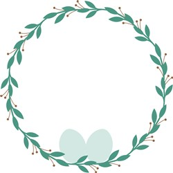 Egg Nest Wreath print art