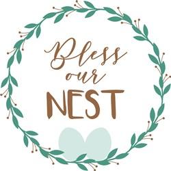 Bless Our Nest print art
