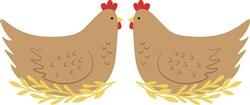 Country Farm Hens print art