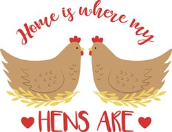 Where My Hens Are print art