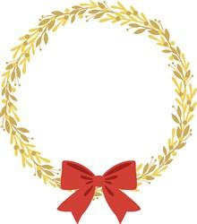Christmas Holiday Wreath print art