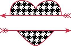 Houndstooth Name Drop Heart print art