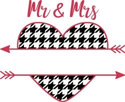 Mr. & Mrs Heart Name Drop print art