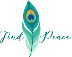Find Peace Peacock Feather print art