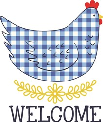 Welcome Hen print art