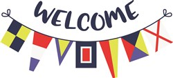 Welcome Flags print art
