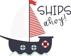 Ships Ahoy print art
