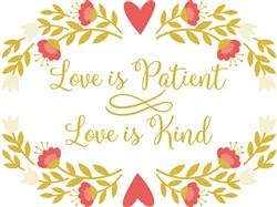 Love Is Patient print art