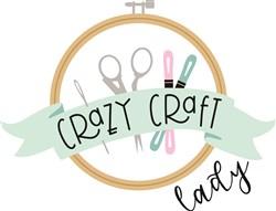 Crazy Craft Lady print art