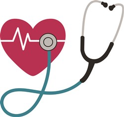 Heartbeat Stethoscope print art
