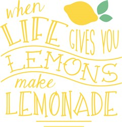 Make Lemonade print art