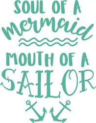 Mermaid Soul, Sailor Mouth print art