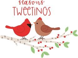 Seasons Twreetings print art