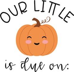 Our Little Pumpkin print art