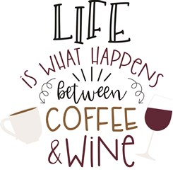 Coffee & Wine print art