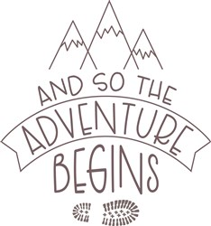 The Adventure Begins print art