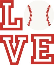 Love Baseball print art