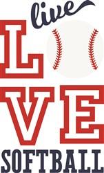 Live Love Softball print art