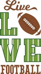 Live Love Football print art