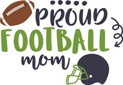 Proud Football Mom print art