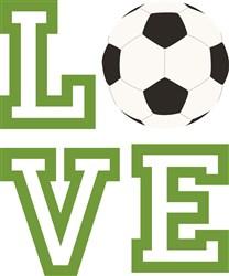 Love Soccer print art