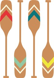 Rowing Oars print art