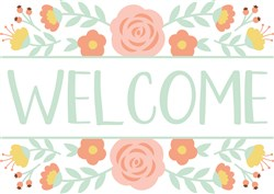 Welcome Floral print art