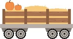 Pumpkin Hay Ride print art