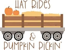 Hay Rides & Pumpkin Pickin print art