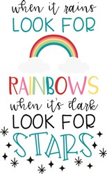 Rainbows & Stars print art