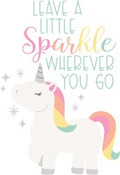 Leave A Little Sparkle print art