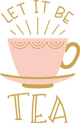 Let It Be Tea print art