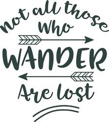 Not All Who Wander print art