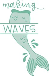 Mermaid Making Waves print art