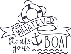 Whatever Floats Your Boat print art