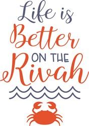 Better On The Rivah print art