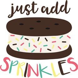 Ice Cream Sandwich Sprinkles print art