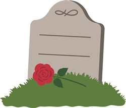 Halloween Grave Headstone print art