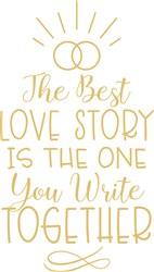 Wedding Love Story print art