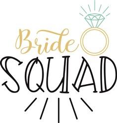 Bride Squad print art