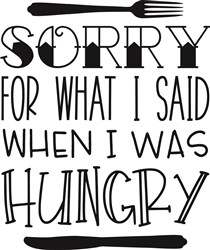 When I Was Hungry print art