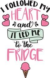 To The Fridge! print art