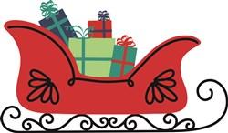 Santas Sleigh Christmas Gifts print art