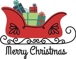 Merry Christmas Sleigh print art