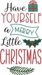 Merry Little Christmas print art
