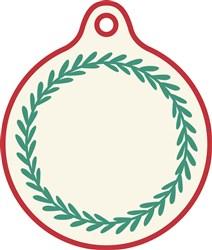 Christmas Gift Tag Wreath print art
