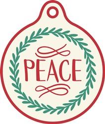 Christmas Peace Gift Tag print art