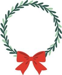Christmas Wreath Bow print art