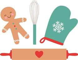 Christmas Cookie Making print art